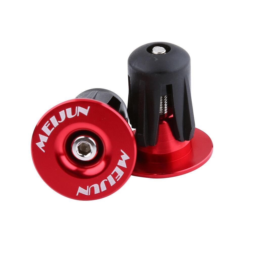 MEIJUN Bike Aluminum Handlebar Grips Cap Plug Handle Bar Cap End Plugs 22-24mm.