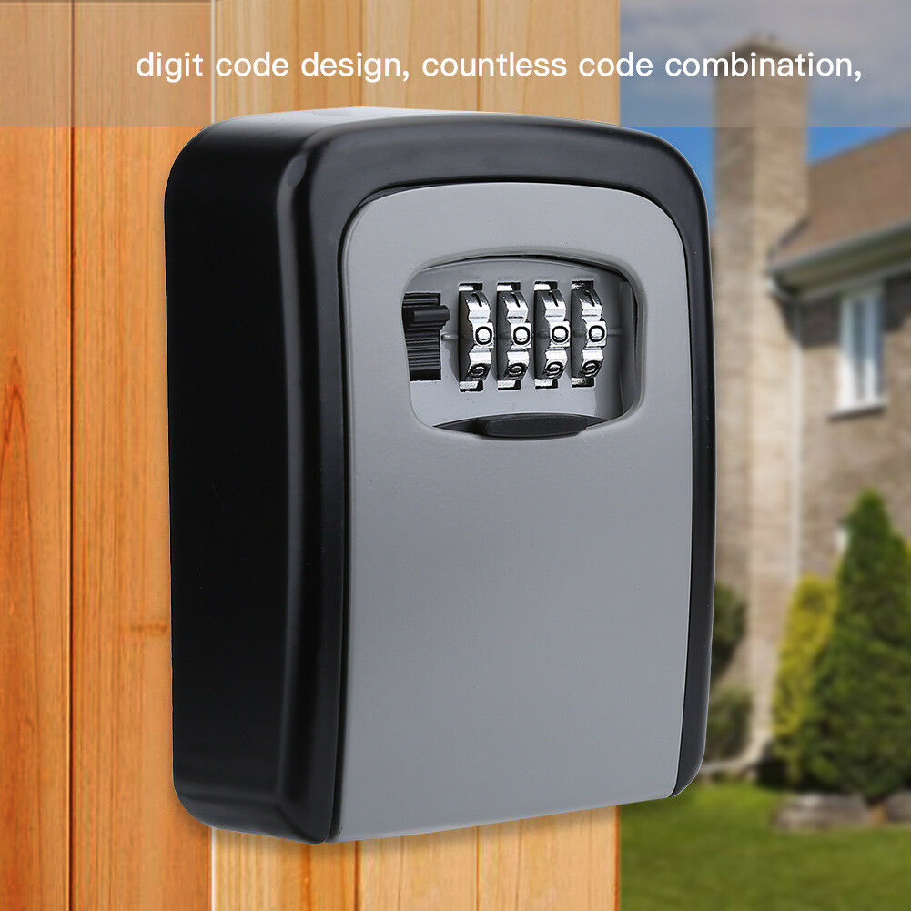 4-Digit-Password-Combination-Key-Safe-Security-Storage-Box-Lock-Case-Wall-Mount thumbnail 15