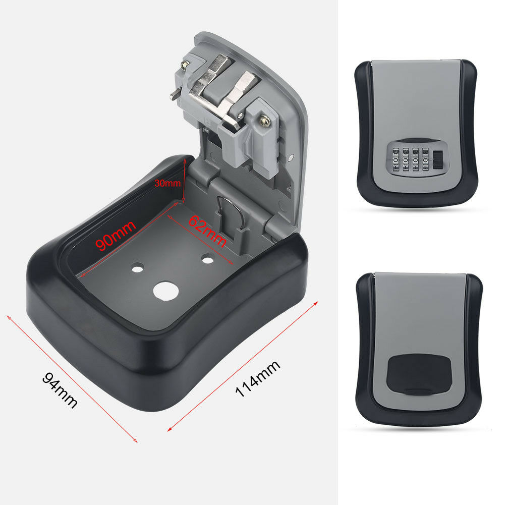 4-Digit-Password-Combination-Key-Safe-Security-Storage-Box-Lock-Case-Wall-Mount thumbnail 30