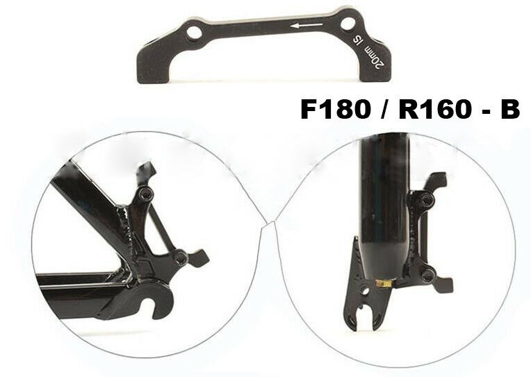 Bike Disc Brake Caliper/_Mount Adapter Front 160//180 Rear 140//1