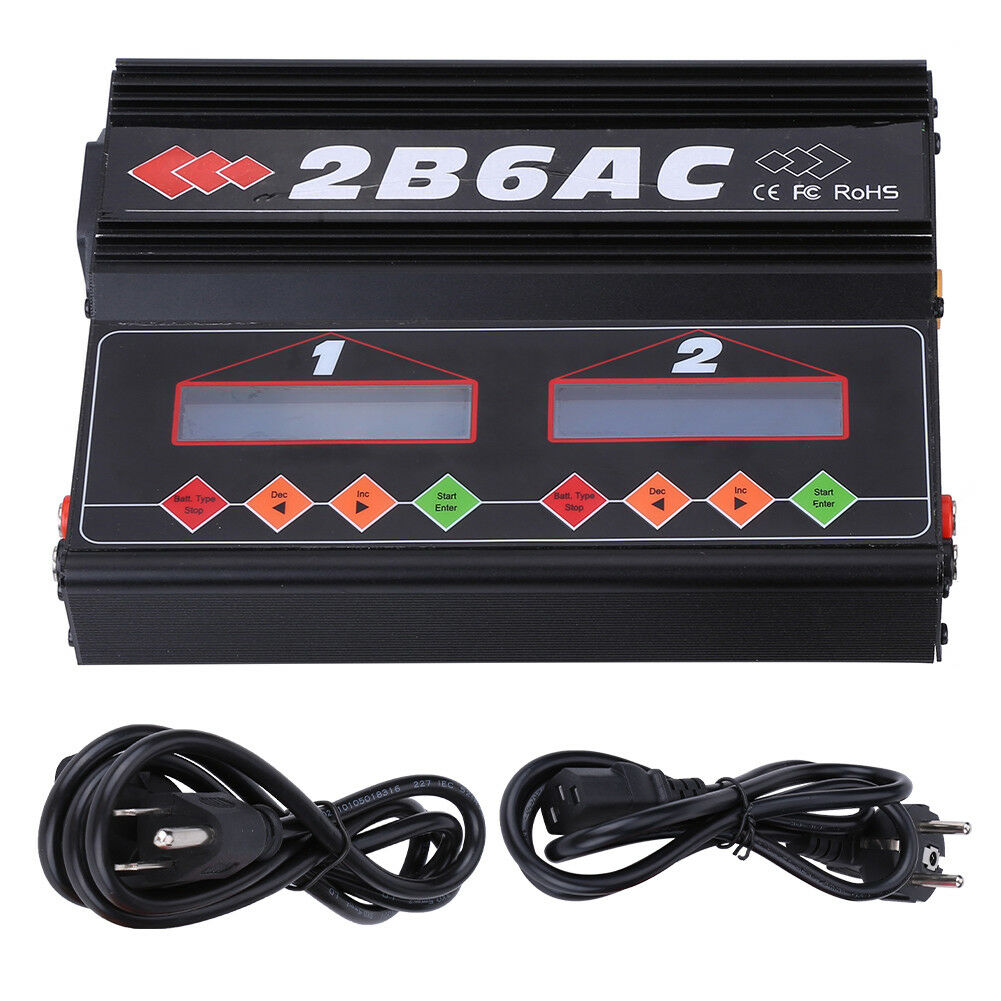 2B6AC 50W2 Dual Power AC DC Balance Charger Discharger For LiPo NiMH Battery sp