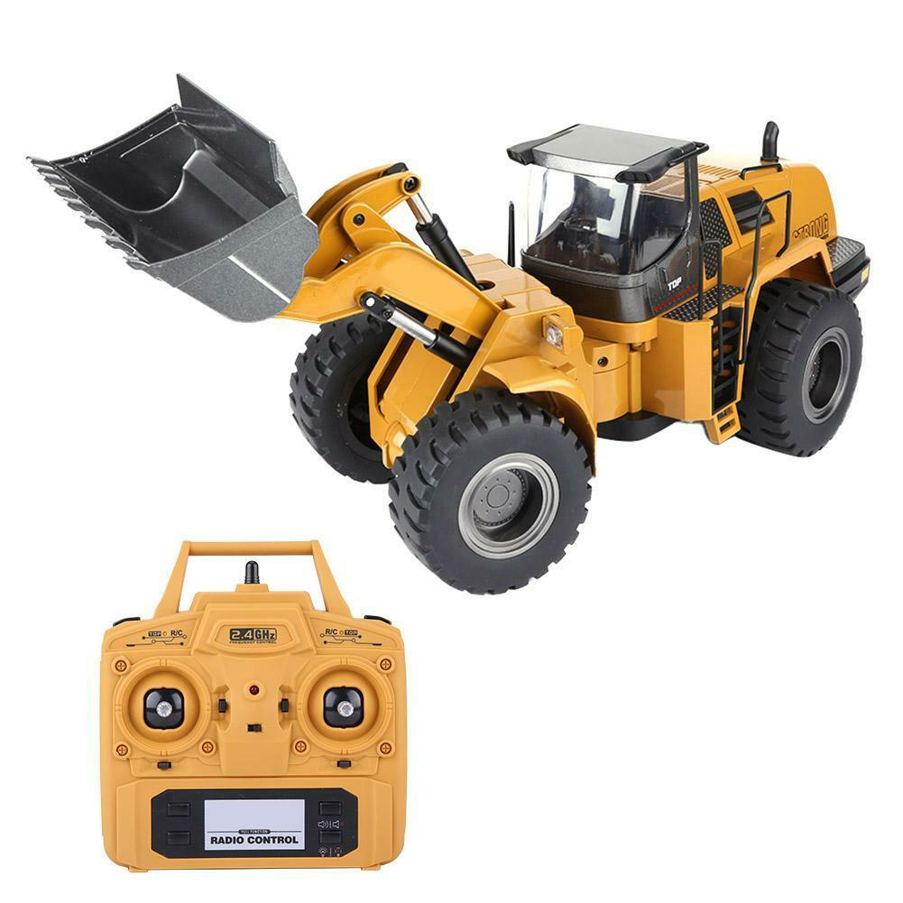 HUINA-1580-1-14-3-in-1-Full-Metal-Excavator-Drill-Grapple-RC-Engineering-Car-s miniature 24