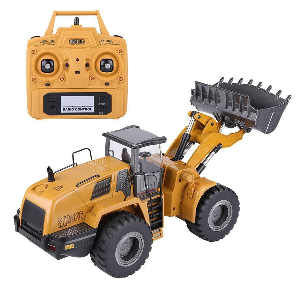 HUINA-1580-1-14-3-in-1-Full-Metal-Excavator-Drill-Grapple-RC-Engineering-Car-s miniature 23