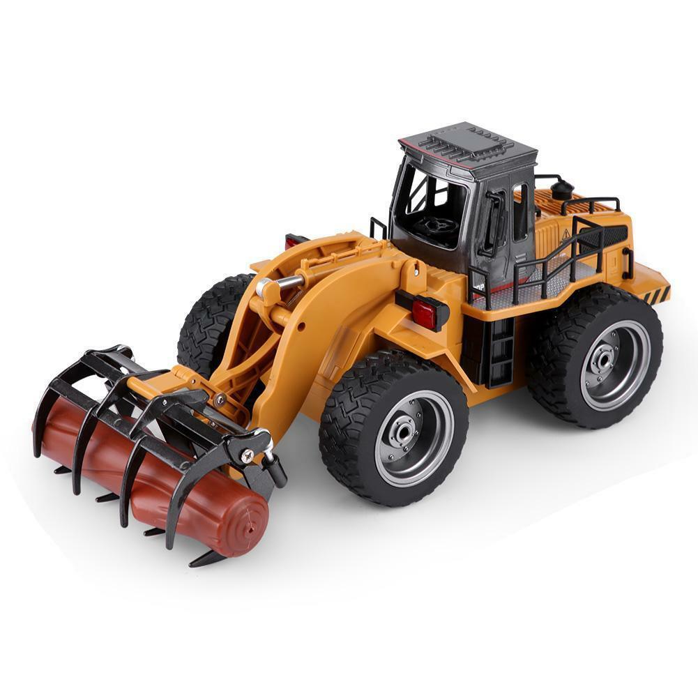 HUINA-1580-1-14-3-in-1-Full-Metal-Excavator-Drill-Grapple-RC-Engineering-Car-s miniature 26
