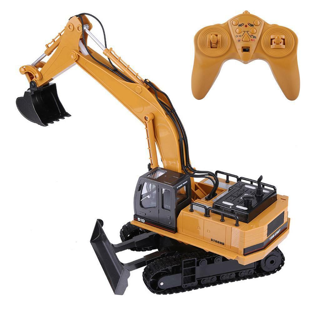 HUINA-1580-1-14-3-in-1-Full-Metal-Excavator-Drill-Grapple-RC-Engineering-Car-s miniature 17