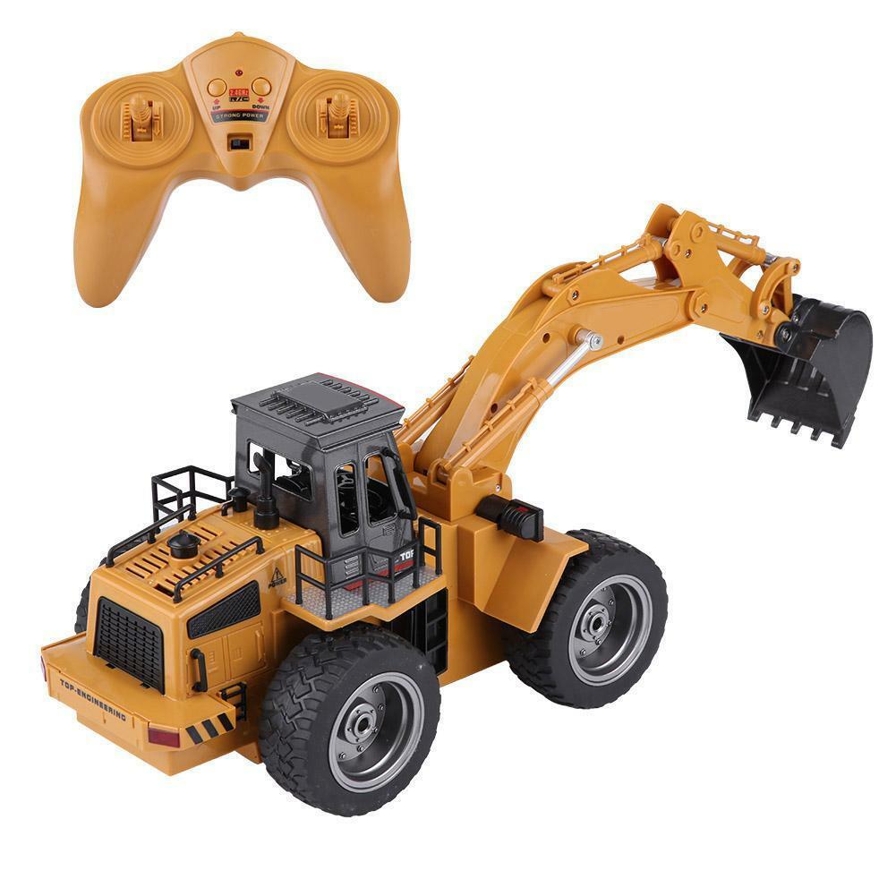 HUINA-1580-1-14-3-in-1-Full-Metal-Excavator-Drill-Grapple-RC-Engineering-Car-s miniature 20