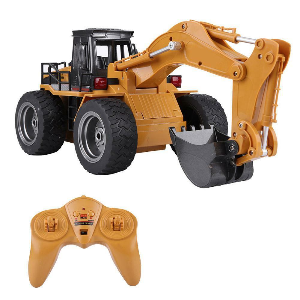 HUINA-1580-1-14-3-in-1-Full-Metal-Excavator-Drill-Grapple-RC-Engineering-Car-s miniature 21
