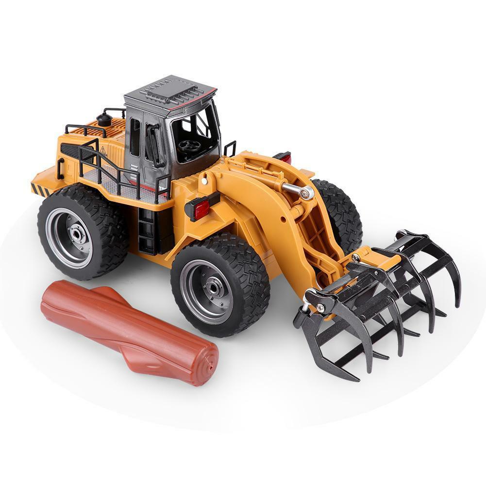 HUINA-1580-1-14-3-in-1-Full-Metal-Excavator-Drill-Grapple-RC-Engineering-Car-s miniature 27
