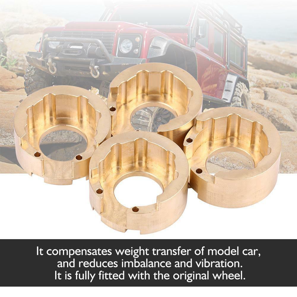 4pcs 4pcs 4pcs Brass Counterweight Balance Weight Fit for Traxxas TRX-4 1 10 RC Vehicle  x 02fb57