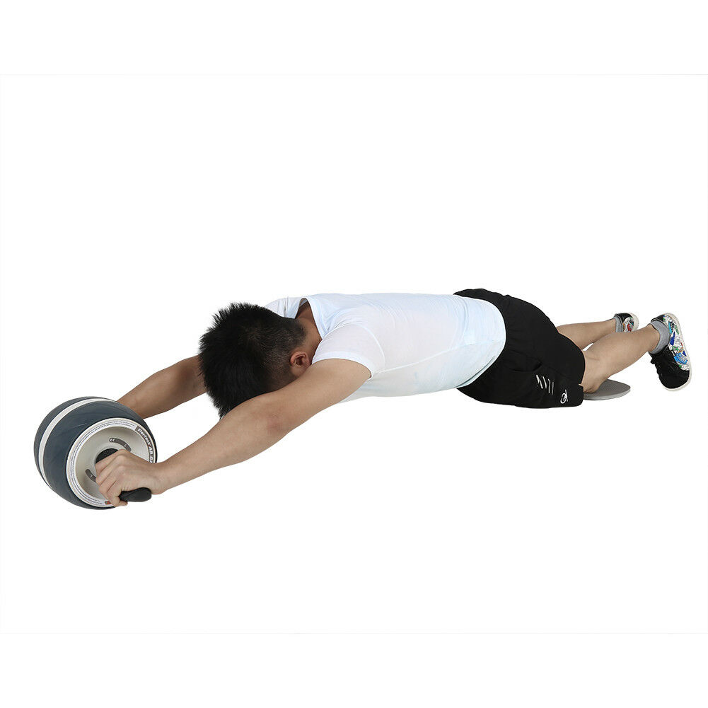 Abdominal-Roller-Wheel-Workout-Gym-Exerciser-Muscle-Fitness-Machine-Exercise miniature 17