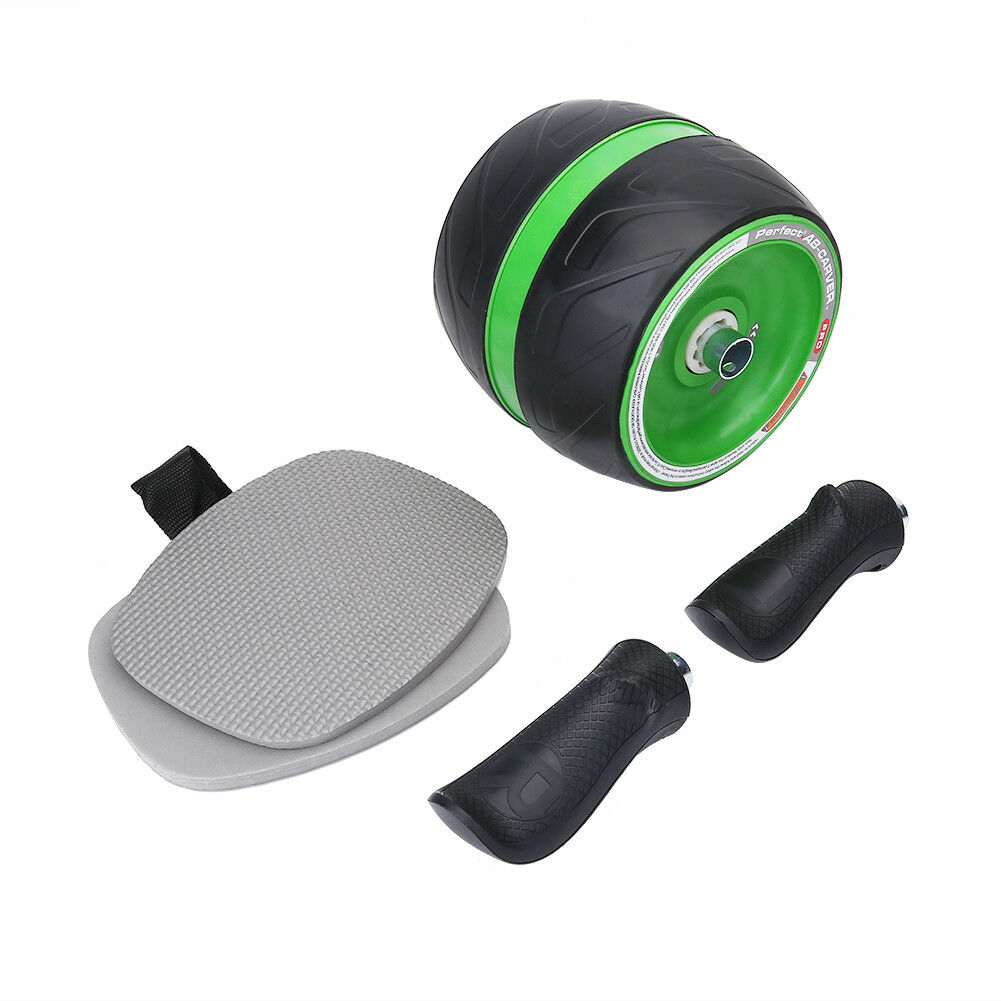 Abdominal-Roller-Wheel-Workout-Gym-Exerciser-Muscle-Fitness-Machine-Exercise miniature 28