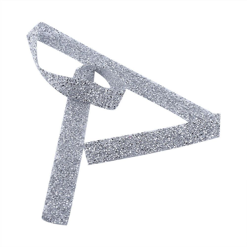 Crystal-Diamante-Rhinestone-Banding-Silver-Mesh-Trim-Wedding-DIY-Decoration-3cm thumbnail 11