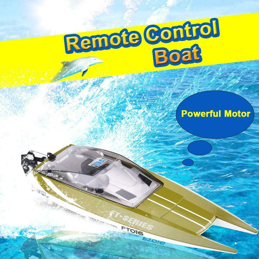 2-Color-RC-2-4GHz-Remote-Control-4-Channel-Boat-Racing-Speedboat-Model-Toy-Ship miniature 16
