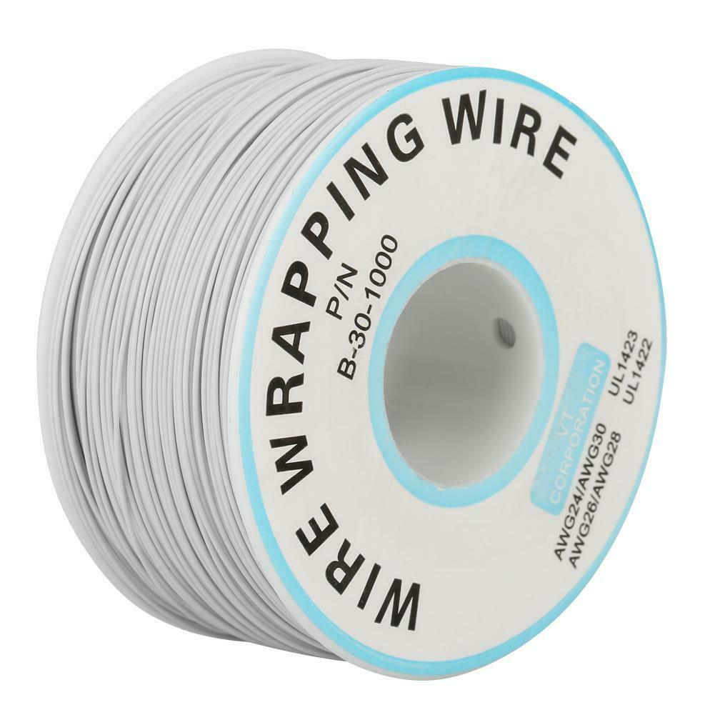 US 30AWG 0.25mm Tin Plated Copper Wire Wrapping Insulation Test Cable 8-Color