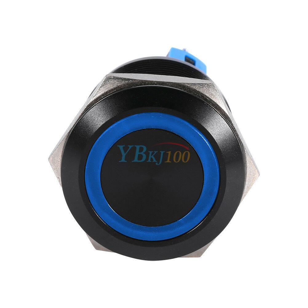 12V 22mm 6 Pin Self-locking Latching Switch Led Light Metal Push Button Switch